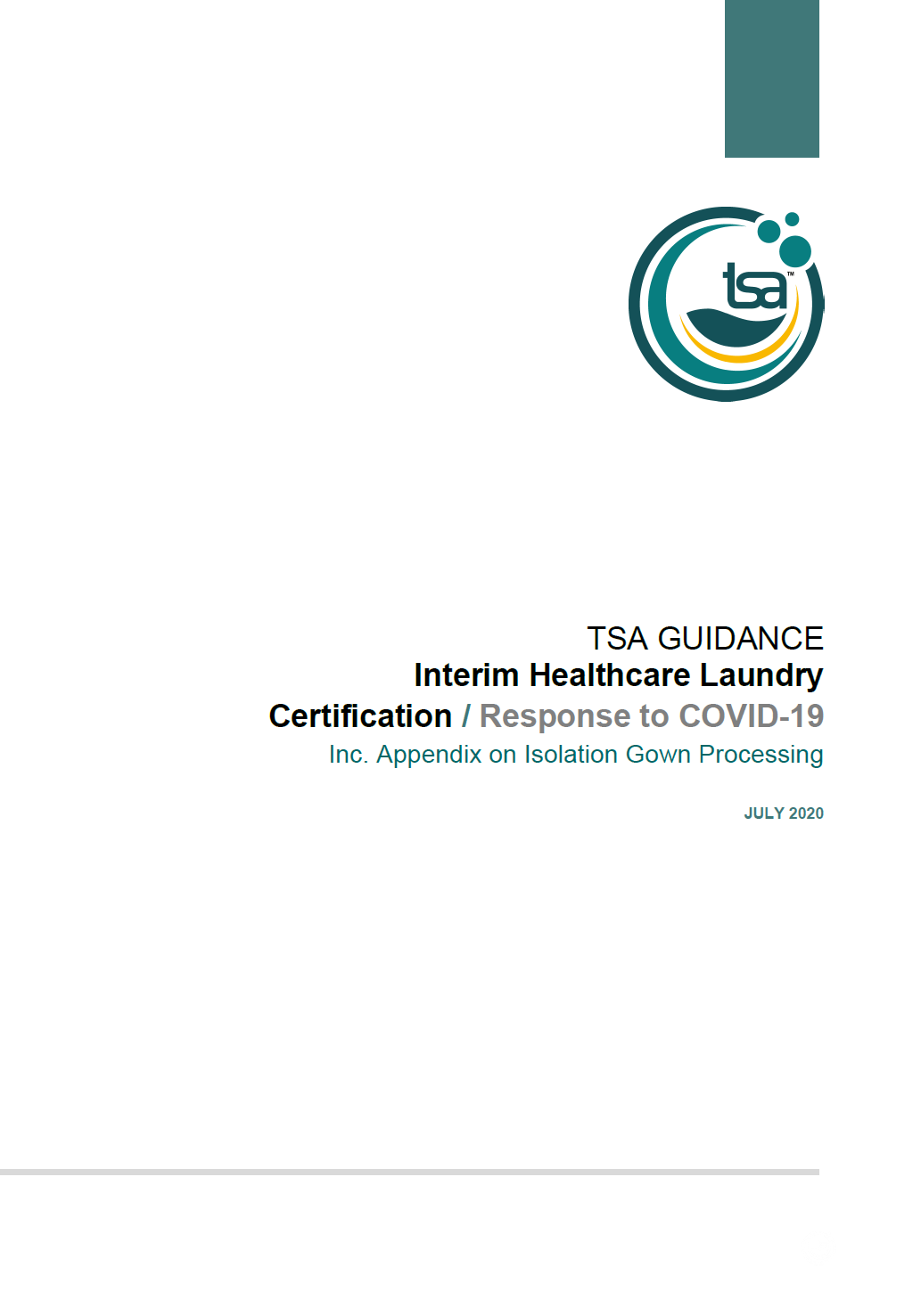 Guidance: Interim Healthcare Laundry Certification