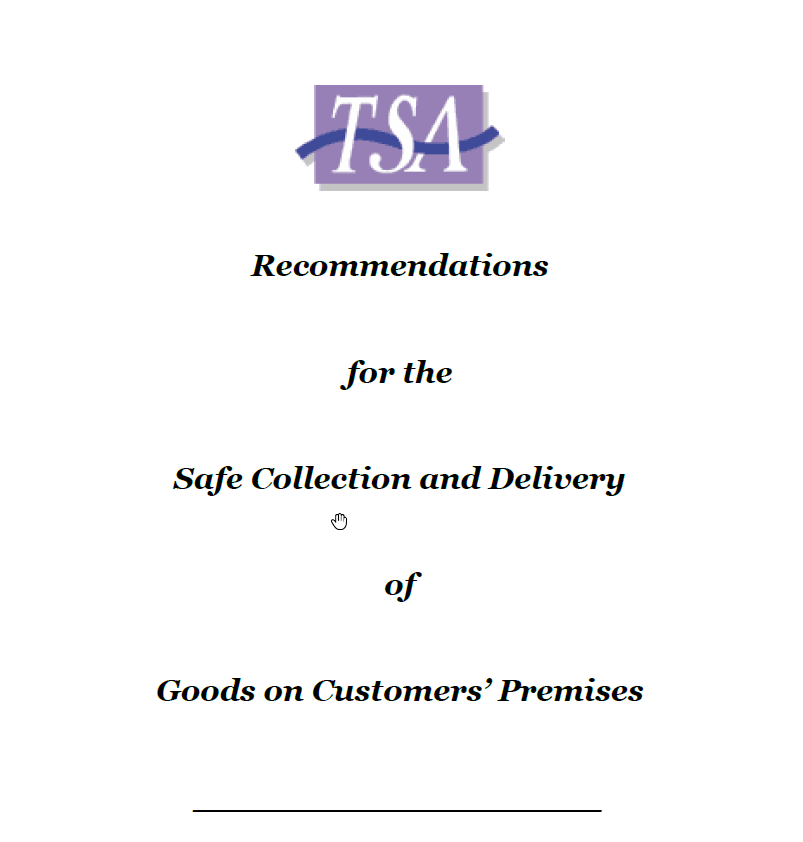 TSA Safe Delivery Guidelines May 2008